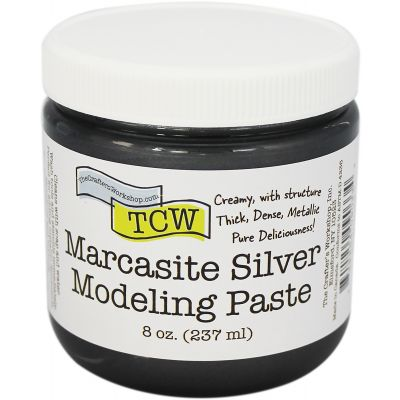 Crafter'S Workshop Modeling Paste 8Oz Marcasite Silver - TCWMP-9033
