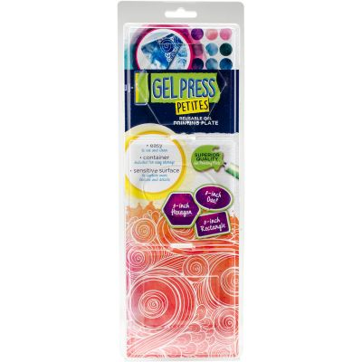 Gel Press Gel Petites 3/Pkg Oval, Hexagon, Rectangle - 10812HEX