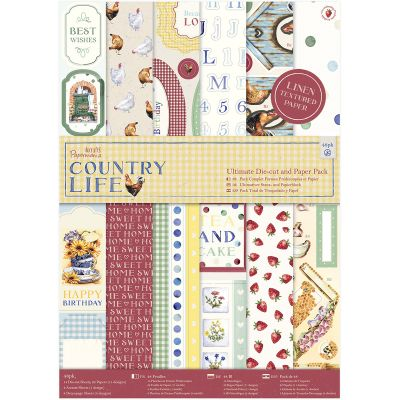 Papermania Ultimate A4 Die Cuts & Paper Pack 48/Pkg Country Life - PM160249
