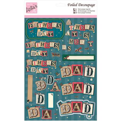 Anita'S A4 Foiled Decoupage Sheet For Dad - A169653