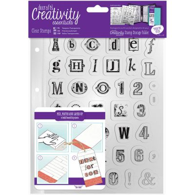 Creativity Essentials A5 Clear Stamps Alphabet - CE907131