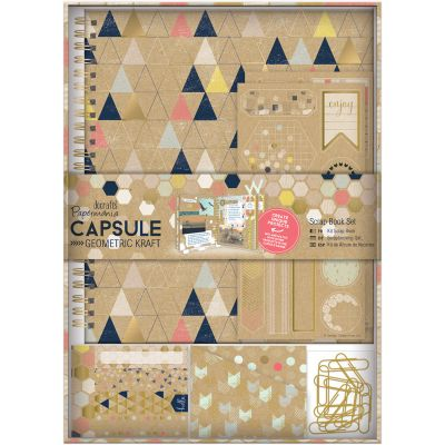 Papermania Geometric Spiral Scrapbook Kit Kraft - PM105354