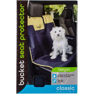 Bergan Classic 600D Polyester Auto Bucket Seat Protector Navy/Sand - 88855
