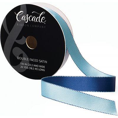 Cascade Double Faced Satin Ribbon .875