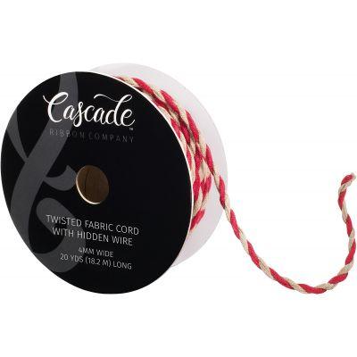 Cascade Twisted Fabric Cord W/ Hidden Edge 3/16