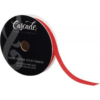 Cascade Linen Textured Sticky Ribbon 5/8