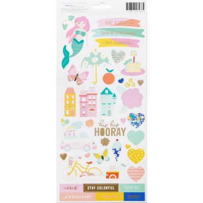 Dear Lizzy Stay Colorful Cardstock Stickers 6