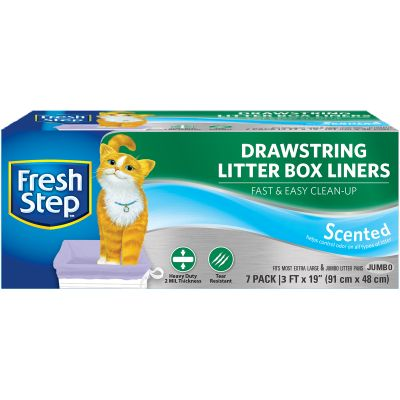Fresh Step Drawstring Litter Box Liners 7/Pkg Jumbo Scented - FFP8425S