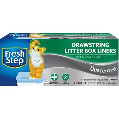Fresh Step Drawstring Litter Box Liners 7/Pkg Jumbo Unscented - FFP8424S