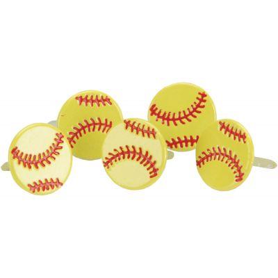Eyelet Outlet Shape Brads 12/Pkg Softballs - QBRD-700