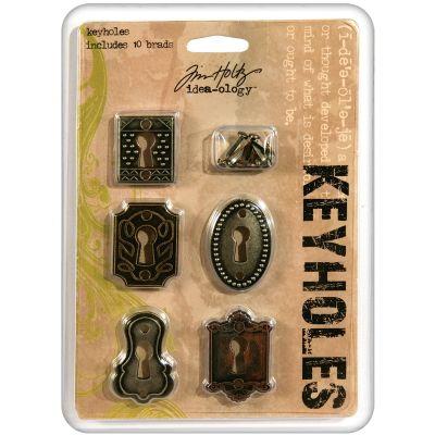 Idea Ology Metal Keyholes W/Brads .75