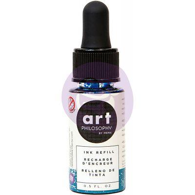 Prima Color Philosophy Dye Ink Refill .5Oz Atlas Blue - CPDIR-30713