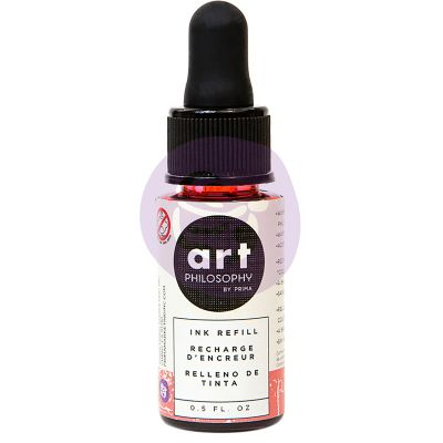 Prima Color Philosophy Dye Ink Refill .5Oz Peony - CPDIR-30874