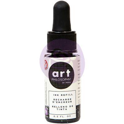 Prima Color Philosophy Dye Ink Refill .5Oz Chat Noir - CPDIR-30942