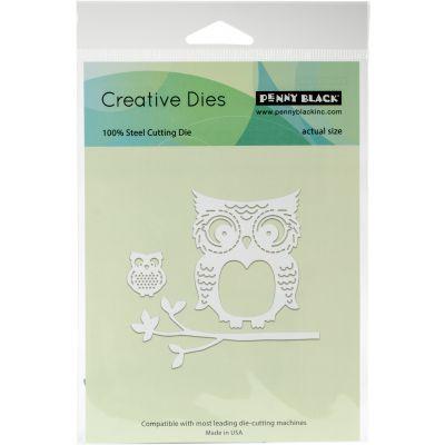 Penny Black Creative Dies Mommy & Me Owls, 2