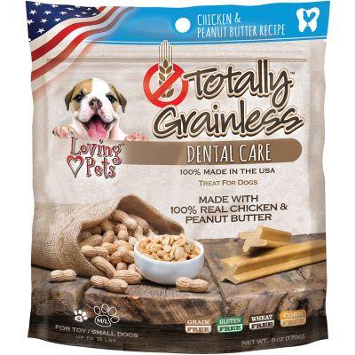 Totally Grainless Dental Bones For Large Dogs 6Oz Chicken & Peanut Butter - LP5306