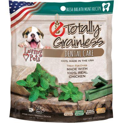 Totally Grainless Dental Bones For Small Dogs 6Oz Fresh Mint - LP5313