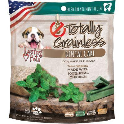 Totally Grainless Dental Bones For Large Dogs 6Oz Fresh Mint - LP5314