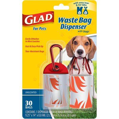Glad Waste Bag Dispenser With Unscented Bags  - FFP8647
