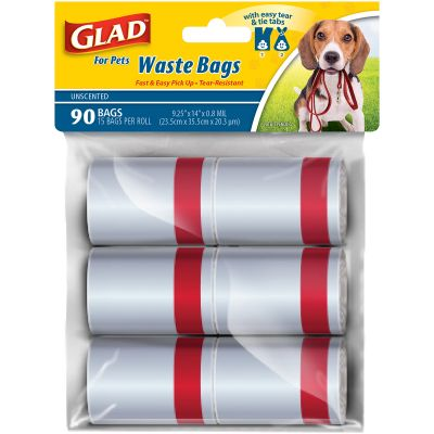 Glad Waste Disposable Bags 6/Rolls 90 Bags Unscented - FFP8650
