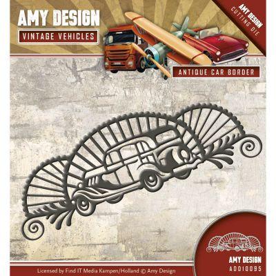 Find It Trading Amy Design Vintage Vehicles Die Antique Car Border - ADD10095