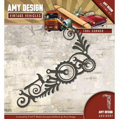 Find It Trading Amy Design Vintage Vehicles Die Tool Corner - ADD10097