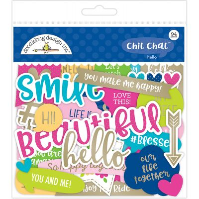 Doodlebug Odds & Ends Die Cuts 94/Pkg Hello Chit Chat - H5910