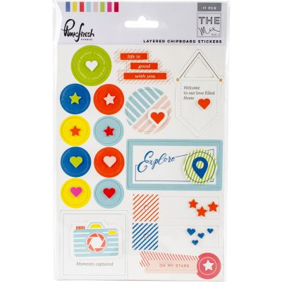 The Mix No. 1 Layered Chipboard Stickers 5