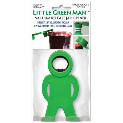 Little Green Man Multi Purpose Bottle & Jar Opener Green - 9915