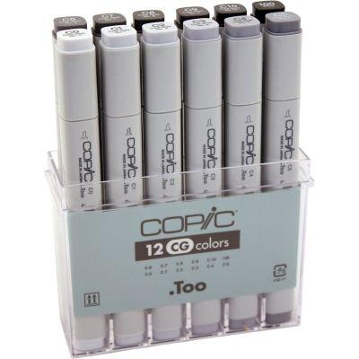 Copic Original Markers Set 12/Pkg Cool Gray - CCG12