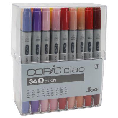 Copic Ciao Markers Set 36/Pkg Set B - I36B