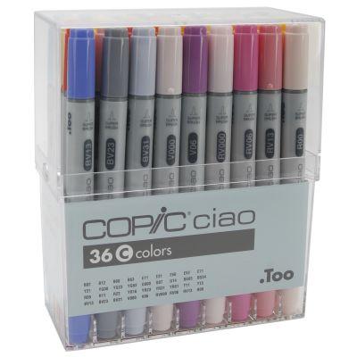 Copic Ciao Markers Set 36/Pkg Set C - I36C