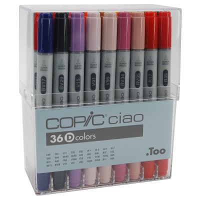 Copic Ciao Markers Set 36/Pkg Set D - I36D