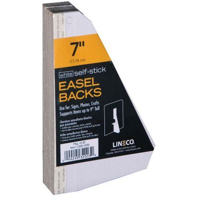 Lineco Self Stick Chipboard Easel Backs 25/Pkg White Single Wing 7