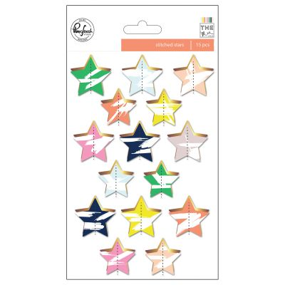 Pinkfresh The Mix No. 2 Gold Foiled Die Cuts 15/Pkg Stars - RC601017