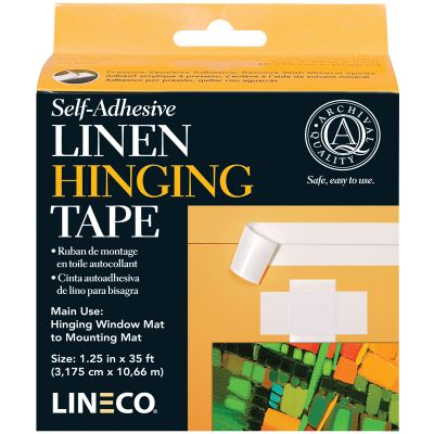 Lineco Self Adhesive Linen Hinging Tape White 1.25