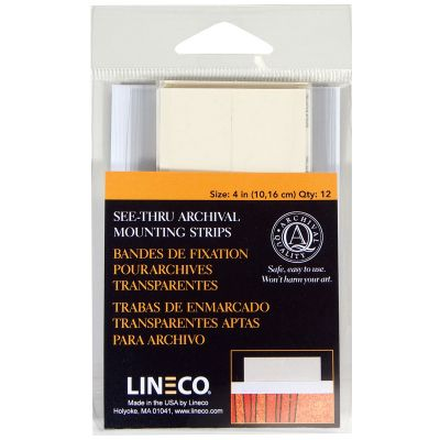 Lineco See Thru Archival Mounting Strips 12/Pkg 4