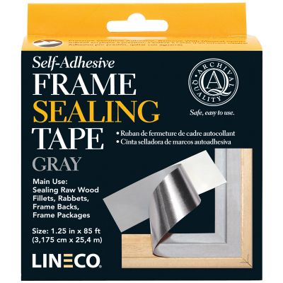 Lineco Self Adhesive Frame Sealing Tape Blue/Gray 1.25