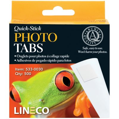 Lineco Quick Stick Photo Tabs 500/Pkg .5
