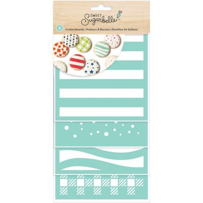 Sweet Sugarbelle Decorating Stencil 8/Pkg Patterns - SB342057