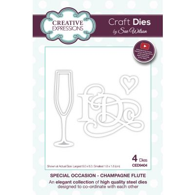 Creative Expressions Craft Dies By Sue Wilson Special Occasions Champagne Flute - CED9404