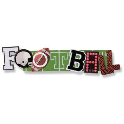 Karen Foster Stacked Statement Stickers Football - KFF00458