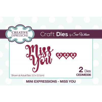 Creative Expressions Craft Dies By Sue Wilson Mini Expressions Miss You - CEDME006