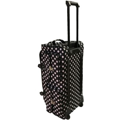 Cgull Rolling Craft Machine & Supply Bag 2.0 Black With White Polka Dots - 10-0014