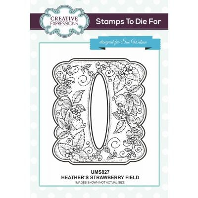 Creative Expressions Stamps To Dies For By Sue Wilson Heather'S Strawberry Field - UMS827