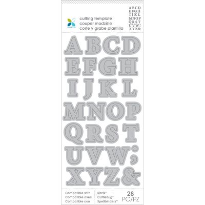 Momenta Die Cutting Templates Alphabet Upper Case - 30021