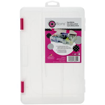 Creative Options Deep 3600 Utility Box Clear W/Magenta Latches - 2363085