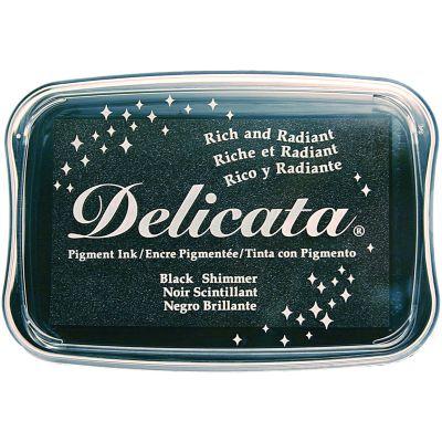 Delicata Pigment Ink Pad Black Shimmer - DE000382