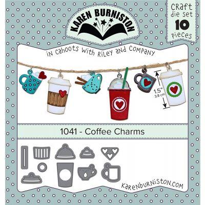 Karen Burniston Dies Coffee Charms - KBR1041