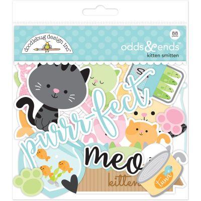 Doodlebug Odds & Ends Die Cuts 88/Pkg Kitten Smitten - KS5244